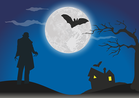 Nosferatu, Dracula, Moon, Moonlight, Vampire, Mysticism