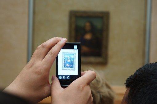 Mona Lisa, Photography, Modern Art, Hands, Camera