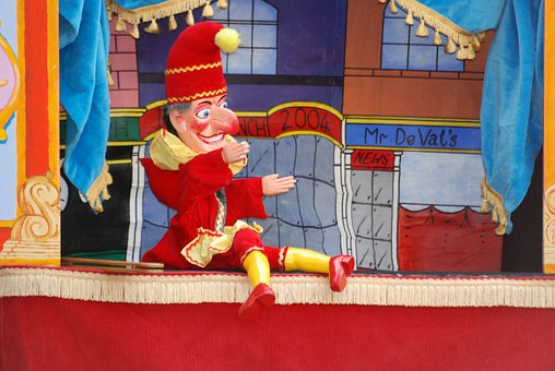 Punchinello, Clown, Fun, Punch And Judy Show, Punch