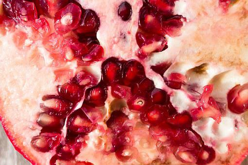 Pomegranate, Red, Fruit, Sliced, Delicious, Healthy