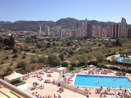 Benidorm, Holiday, Pool, Sunshine, People, Resort