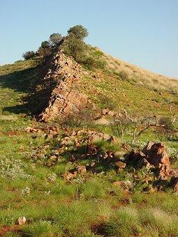 Carnarvon, Near, Ridge, Back, Dragon, Hill, Landscapes