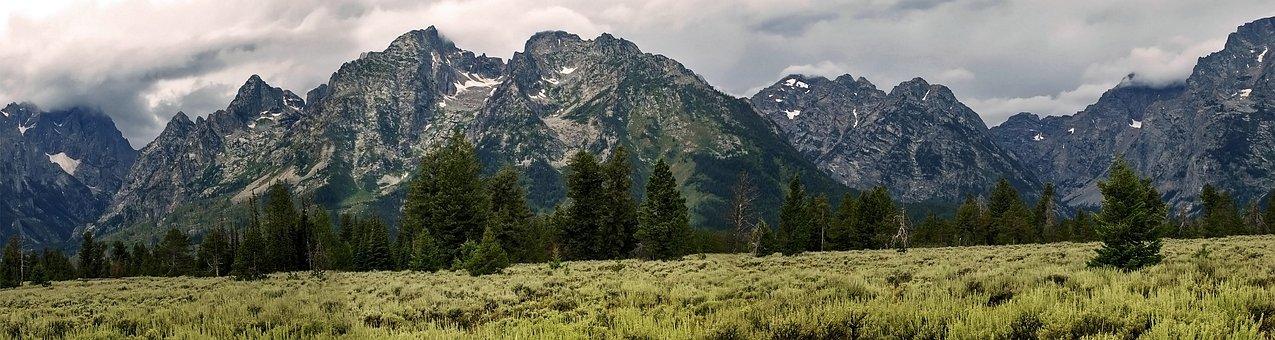 Grand Teton, Mountains, Landscape, Wyoming, Rocky