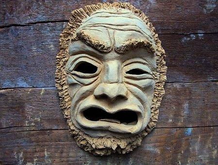 Mask, Fash, Art, Ceramic, Aggression, Craft