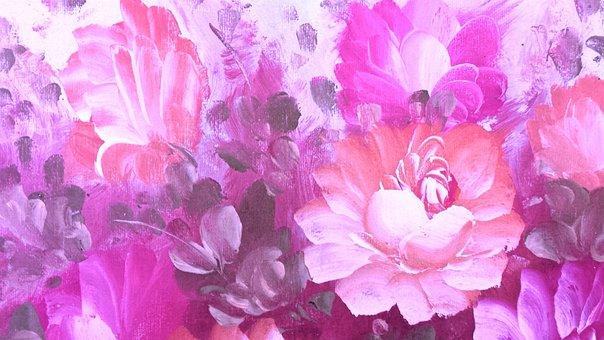 Painting, Roses, Flower, Design, Floral, Vintage