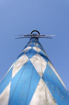 Maypole, Bavaria, White, Blue, Sky, Summer, Free State