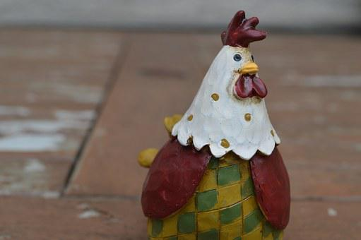 Rooster, Ornament, Chicken, Poultry, Bird, Farm, Hen