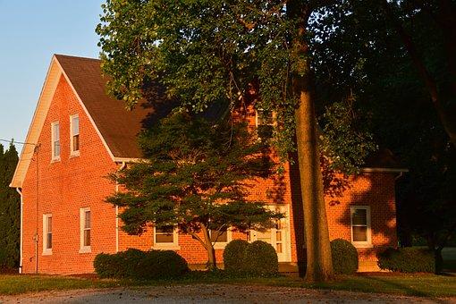 Sunset, Farmhouse, Brick Home, New Bremen Ohiio