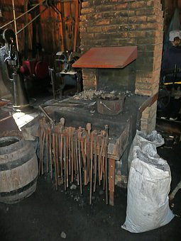 Blacksmith, Locksmithery, Locksmith Shop, Old, Tools