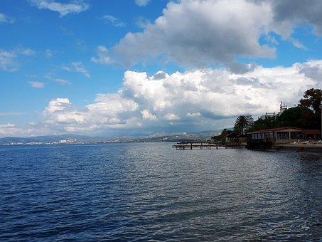 Kusadasi, Marine, Blue, Yacht, Green, Peace, Nature