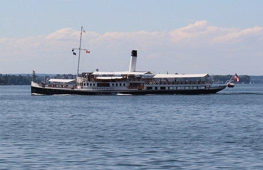 Ship, Steamboat, Paddle Steamer, Exit, Nostalgic