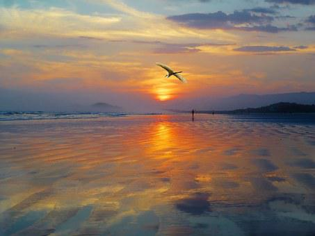 West, Sunset, Sol, Landscape, Against Light, Nature