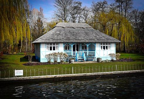 Cottage, Thatched Roof, Canal, Wooden, Traditional