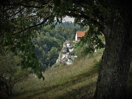 Castle, Pottenstein, Tree, Ruin, Old, Germany