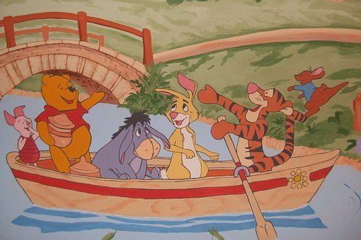 Winnie The Pooh, Wall Painting, Wall Decoration