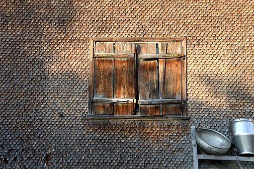 Farmhouse, Milk Can, Shingle, Wall Structure, Window