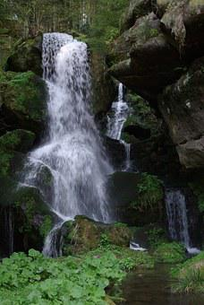 Waterfall, Water, Natural, Mystery