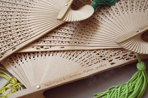 Wedding, Decoration, Workshop, Handmade, Fans, Bamboo