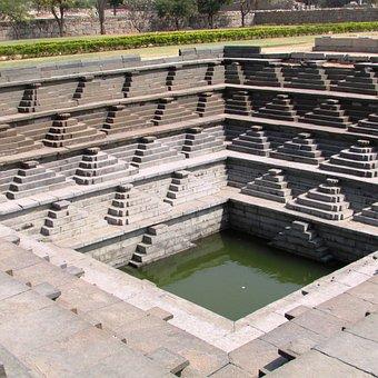 Step Well, Unesco Heritage Site, Hampi, India, Ancient