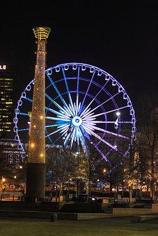 Night, Street, City, At Night, Downtown, Night Shot