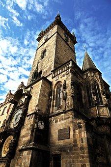 Architecture, Astronomical, Clock, Bohemia, Building