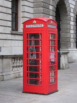 Telephone, Red, London, United Kingdom, England, Box