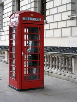 Call Box, Phone Booth, Red, London, English