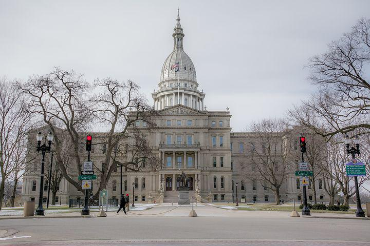 Michigan, State, Capitol, Architecture, Landmark
