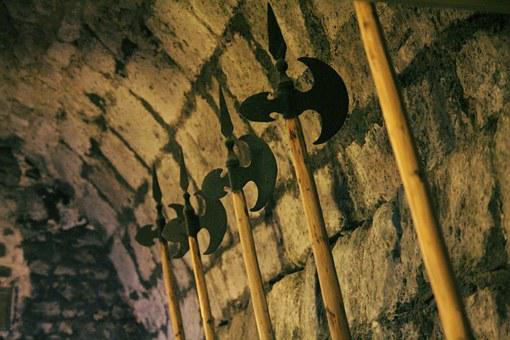 Weapons Hall, Hall Bard, Middle Ages, Castle