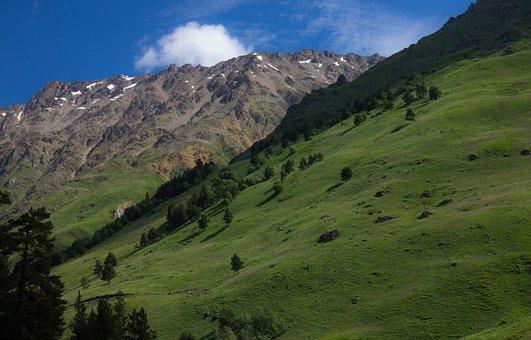 Mountains, Elbrus Region, The Caucasus