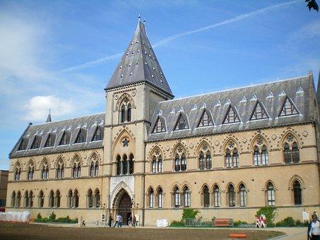 Oxford, England, Muzeum, Buildings, Summer