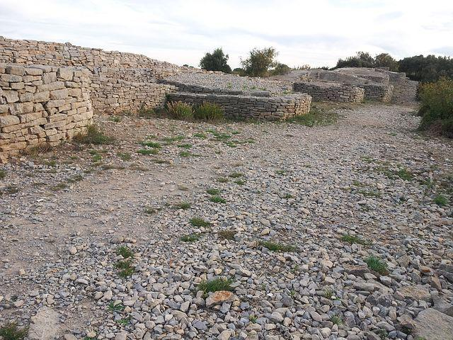 Fortification, Ambrussum, France, Ruins, Stones, Old