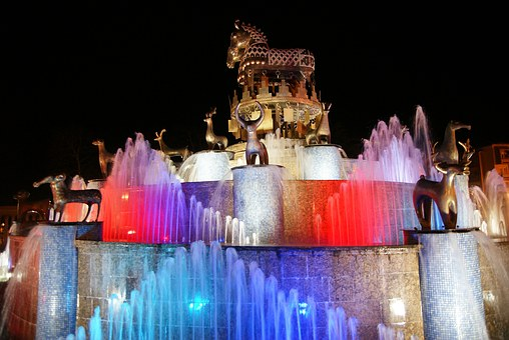 Georgia, Kutaisi, Fountain, Caucasus