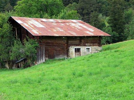 France Alps, Savoie, Grange, Mountain, Farm, Altitude