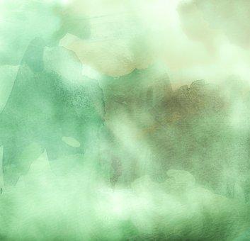 Watercolors, Green, Background, Dark, Art, Color, Paper