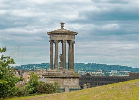 Dugald Stewart Monument, Edinburgh, Hill, Monument