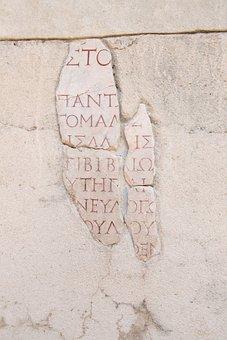Writing, Ruins, Turkey, Ephesus, Ancient, History