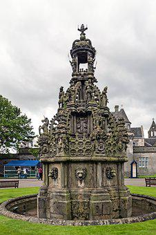 Holyroodhouse, Holyrood Palace, Fountain, Palace