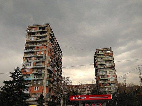 Block, Tbilisi, Georgia, Building, Flat, House