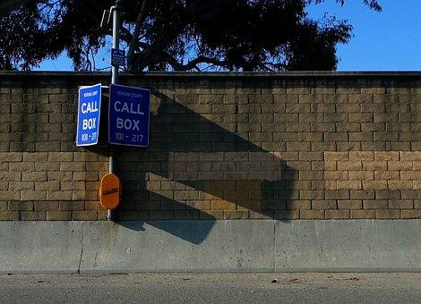 Call Box, Freeway, Interstate, Road Sign, Emergency