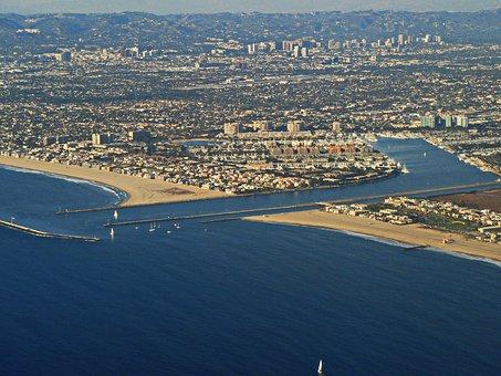 Los Angeles, Aerial Shot, Aerial View, Marina Del Rey
