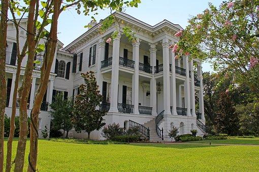 Plantation, Nottoway, Louisiana, Balcony, Porches