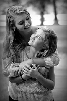 Sisters, Best Friends, Bff, Two, Young, Girls, Love
