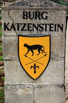 Coat Of Arms, Shield, Castle, Middle Ages, Katzenstein