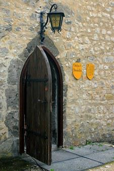 Castle, Door, Old, Input, Middle Ages, Still Life