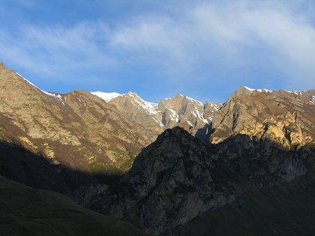 Mountains, Morning, Sky, Chegem, Northern Caucasus