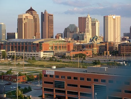 Columbus, Ohio, America, Usa, Architecture, Skyline