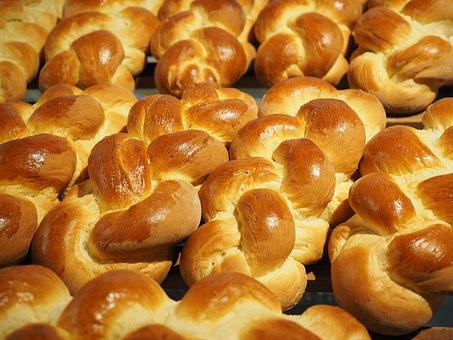 Butterzopf, Hefekranz, Easter Braid, Vteig, Cake, Plait