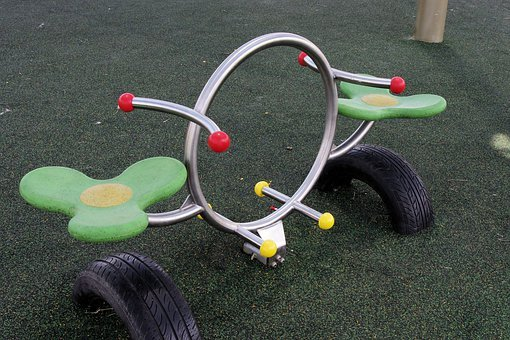 Playground, Background, See-saw, Rocking Chair, Seat