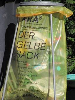 Yellow Sack, Recycling, Plastic, Waste, Plastic Waste